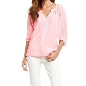 Lilly Pulitzer Pink/White Striped Moxy Blouse